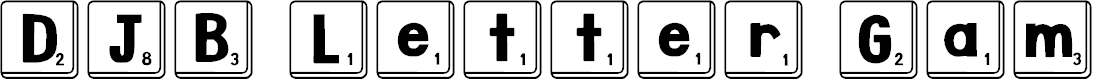 Preview image for DJB Letter Game Tiles Font