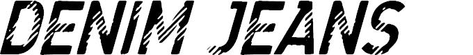Preview image for CF Denim Jeans Regular Font