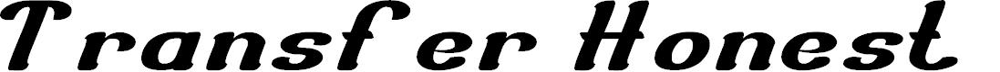 Preview image for Transfer Honest Font