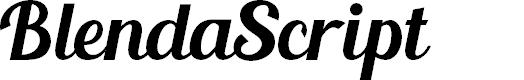 Preview image for BlendaScript Font