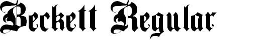 Preview image for Beckett Regular Font