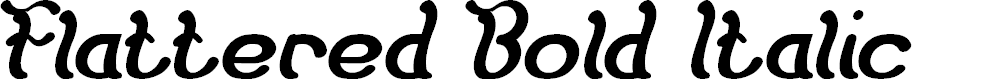 Preview image for Flattered Bold Italic