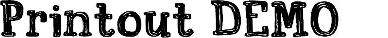 Preview image for Printout DEMO Regular Font