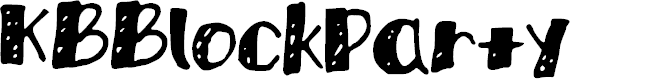 Preview image for KBBlockParty Font