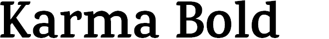 Preview image for Karma Bold Font