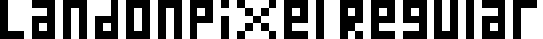 Preview image for LandonPixel Regular Font