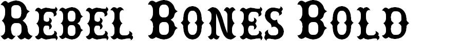 Preview image for Rebel Bones Bold Font