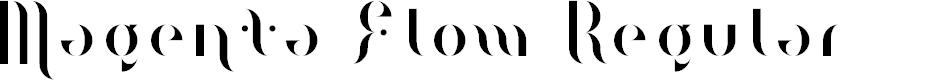 Preview image for Magenta Flow Regular Font