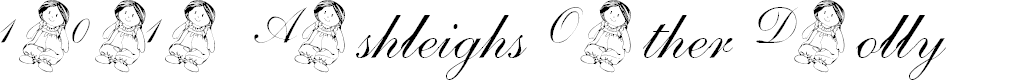 Preview image for 101! Ashleigh's Other Dolly Font