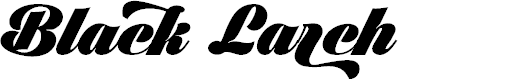 Preview image for Black Larch PERSONAL USE ONLY Font
