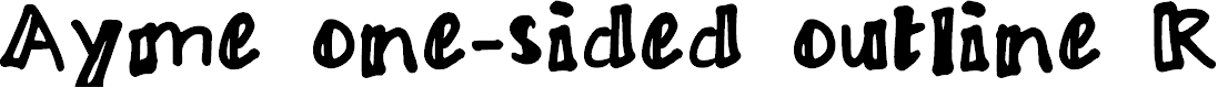 Preview image for Ayme one-sided outline Regular Font