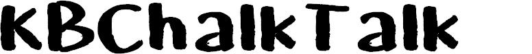 Preview image for KBChalkTalk Font