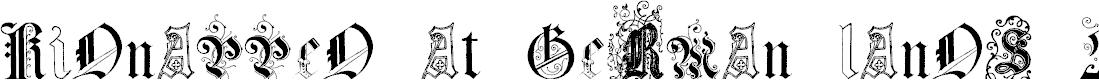 Preview image for Kidnapped at German Lands Four Regular Font