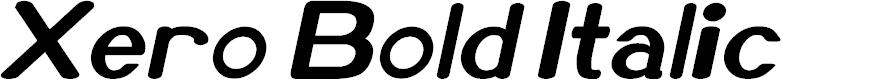 Preview image for Xero Bold Italic