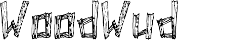 Preview image for WoodWud Font