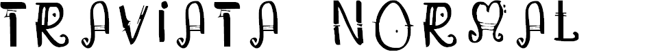 Preview image for Traviata Normal Font