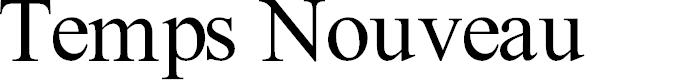 Preview image for Temps Nouveau Font