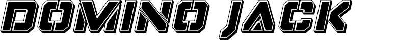 Preview image for Domino Jack Bevel Italic Italic