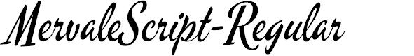 Preview image for MervaleScript-Regular