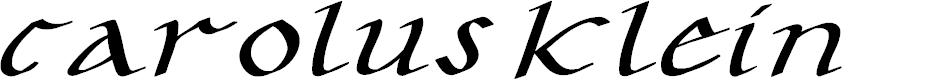 Preview image for CarolusKlein-Oblique Font