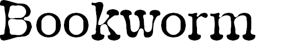 Preview image for Bookworm Font