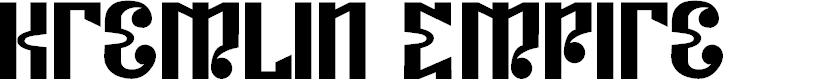 Preview image for Kremlin Empire Font