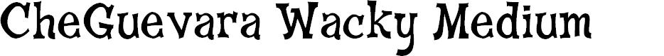 Preview image for CheGuevara Wacky Medium Font