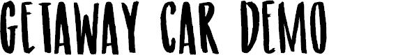 Preview image for Getaway Car DEMO Regular Font