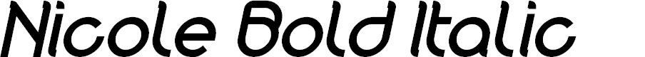 Preview image for Nicole Bold Italic