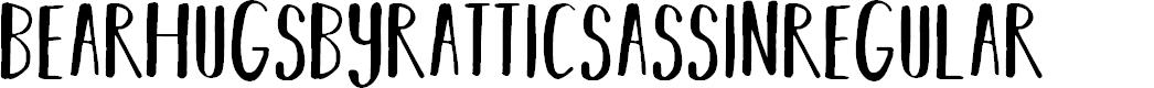 Preview image for BEARHUGSBYRATTICSASSIN-Regular Font