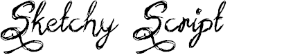 Preview image for Sketchy Script Font