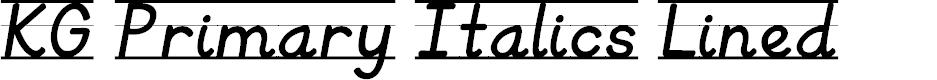 Preview image for KG Primary Italics Lined