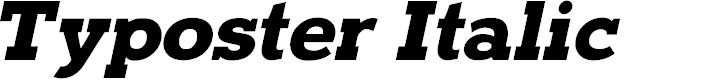 Preview image for Typoster Italic