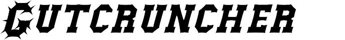 Preview image for Gutcruncher Font