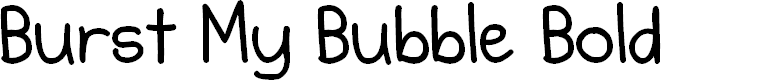 Preview image for Burst My Bubble Bold