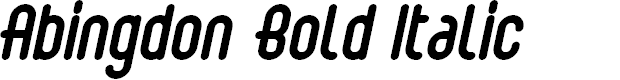 Preview image for Abingdon Bold Italic
