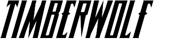 Preview image for Timberwolf Italic