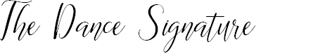Preview image for The Dance Signature Font