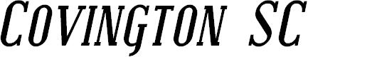Preview image for Covington SC Bold Italic