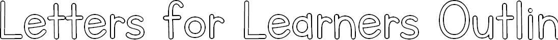 Preview image for Letters for Learners Outline Font