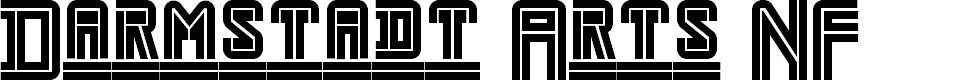 Preview image for Darmstadt Arts NF Font