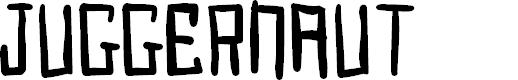 Preview image for Juggernaut Font