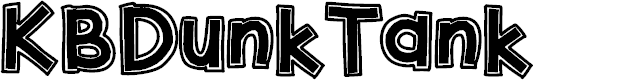 Preview image for KBDunkTank Font