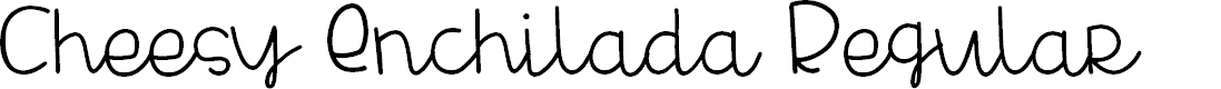 Preview image for Cheesy Enchilada Regular Font