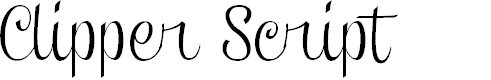 Preview image for Clipper Script (Personal Use) Font