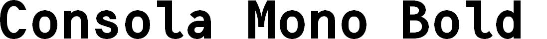 Preview image for Consola Mono Bold