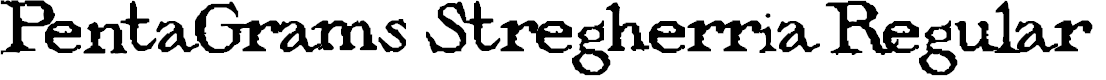 Preview image for PentaGrams Stregherria Regular Font