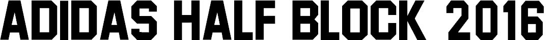 Preview image for Adidas Half Block 2016 Font