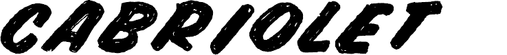 Preview image for CABRIOLET Font