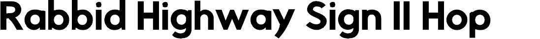 Preview image for Rabbid Highway Sign II Hop Font